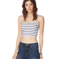 Map To Mars Stripe Crop Cami
