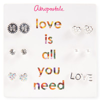 Love Stud Earring 6-Pack