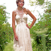 Ivory Chiffon Beaded sequin informal Wedding dress Karinas Fairy Dream