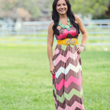 Desert Flower Maxi Dress