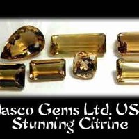 7 Stunning Citrine Faceted Gemstones | CustomGemCutterCreations - Jewelry on ArtFire