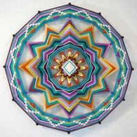 Sound of Silence a 24 inch 12sided Ojo de Dios by jayfroggy