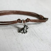 Dog Charm Bracelet  - Elephant Charm Bracelet (24 colors to choose)