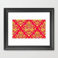Vintage Wallpaper No.10 Framed Art Print by Romi Vega | Society6