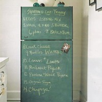 chalk board fridge!