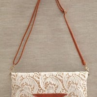 graceful sensibility lace clutch