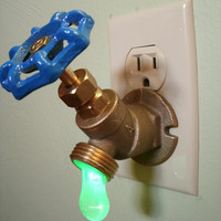 Etsy: Green LED Faucet Valve night light