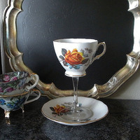 $24.00 Vintage tea cup wine glass by NEWaged