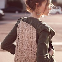 Openwork Army Jacket - Anthropologie.com
