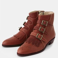 Jett Boots In Cognac By Modern Vice | Threadsence