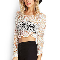 Floral Crochet Crop Top