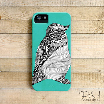 Tribal Penguin -  iPhone 5/5c case, iPhone 4/4s case, Samsung Galaxy S3/S4