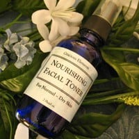 Nourishing Facial Toner organic hydrating cleanse Roses Ylang Lavender | GraciousElements - Bath & Beauty on ArtFire