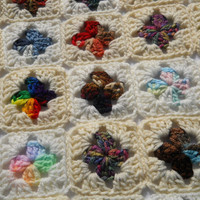 Crocheted Doll Blanket All Scraps Trimmed by crochetedbycharlene