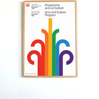 Huge Format Montreal 1976 Olympics Mid Century poster /// FREE SHIPPING WORLDWIDE