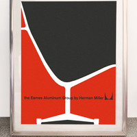 Mid Century Herman Miller Aluminum Group poster /// FREE SHIPPING WORLDWIDE