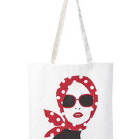 Model Face Canvas Tote