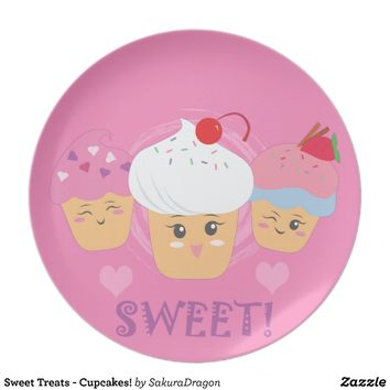 Sweet Treats - Cupcakes! Plate from Zazzle.com