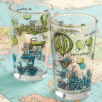 Vintage Cheers to Your Trip Glass Set | Mod Retro Vintage Vintage Clothes | ModCloth.com