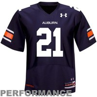 Under Armour Auburn Tigers #21 Performance Replica Jersey - Navy Blue