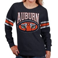 Auburn Tigers Ladies Slouchy Pullover Sweatshirt - Navy Blue