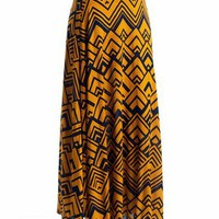 printed maxi skirt $28.20 in MUSTNAVY - Skirts | GoJane.com