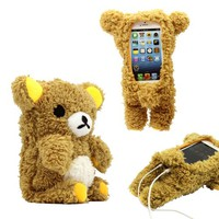 Gearonic TM 3D Cute Doll Toy Cool Plush Teddy Bear Cover Shockproof Dirt Dust Proof Case for Apple iPhone 4 4S 4G 5 5S 5C