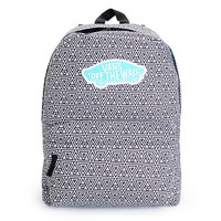 Vans Realm Black & White Geo Print Backpack