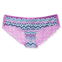 Aeropostale Womens Chevron Lace-Back Hipster -