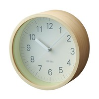 Lumino Wall Clock in Natural - Pop! Gift Boutique