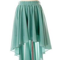 Asymmetric Waterfall Skirt in Mint - Skirt - Bottoms - Retro, Indie and Unique Fashion
