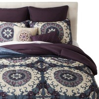Stitched Medallion 8 Piece Comforter Set
