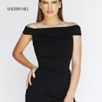 Sherri Hill Short Homecoming Dress 9601 at Peaches Boutique