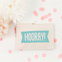 'Hooray!' Canvas Pouch