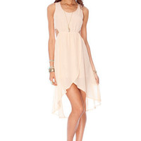 In a Cinch Lace Up Dress in Nude :: tobi