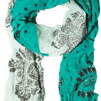 Antik Batik | Aries sequin-trimmed printed cotton scarf | NET-A-PORTER.COM