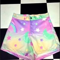 SWEET LORD O'MIGHTY! PRINCESS GALAXY BOOTY SHORTS