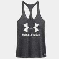 Women's Under Armour Big Logo T-Back Tank