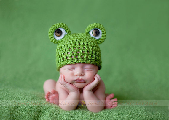 Newborn Mr Frogger Beanie by CrochetCuteness on Etsy