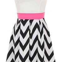 Sweetheart Chevron Dress