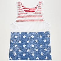 Shouthouse Usa Mens Tank White  In Sizes