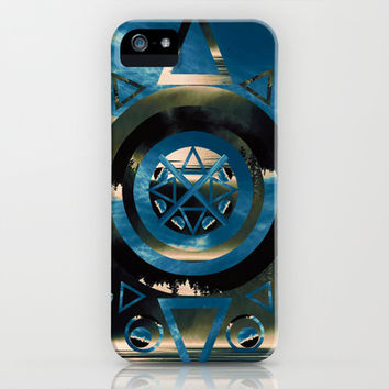 Circle Lake  iPhone & iPod Case by Half Moon Industries