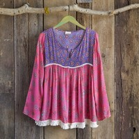 Purple & Pink Indie Print Tunic