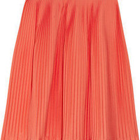 Jil Sander | Liquirizia pleated stretch cotton-poplin skirt | NET-A-PORTER.COM