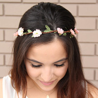 Peach Wild Flower Headband - Hair Accessories