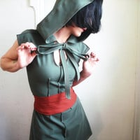 Tender Comrade iheartfink Handmade Hooded Tunic by iheartfink