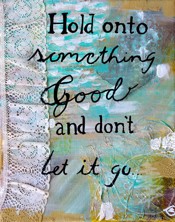 Quote Painting Mixed Media Inspirational art by treetalker