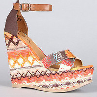 MIA Shoes The Reeba Shoe in Tan Native Multi : Karmaloop.com - Global Concrete Culture