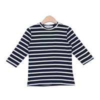 Basic Stripe Three-Quarter Sleeved Shirt