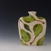 Pottery Vase  Pear Large Envelope Vase  by romyandclare on Etsy